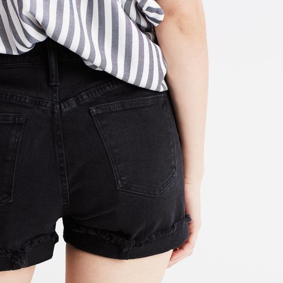 "8b6ebbd924 Madewell Pants - Madewell High Rise Denim Shorts Washed Black 30"""